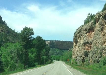 Road IntoTen Sleep WY 2014-06-03