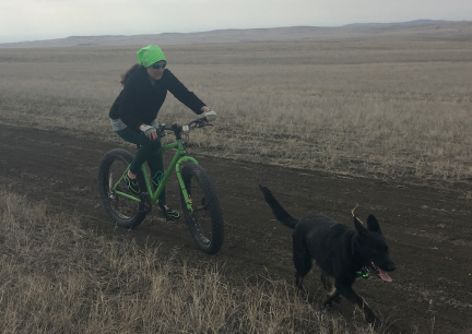 Tabaliah with Marna Cruising on Prairie 2017-03-28