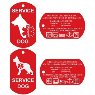 GSD Service Dog Tag