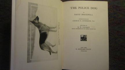 The Police Dog 1924 Book