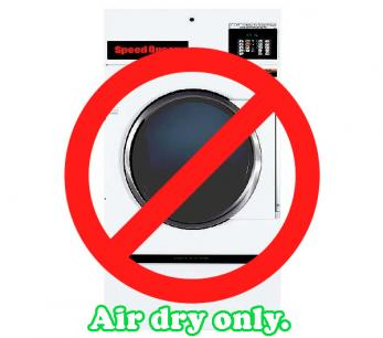 Air Dry Only