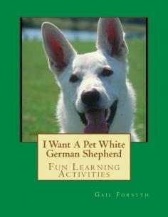 I want a white GSD book